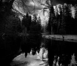 Half Dome lake mirror BW (1 of 1)
