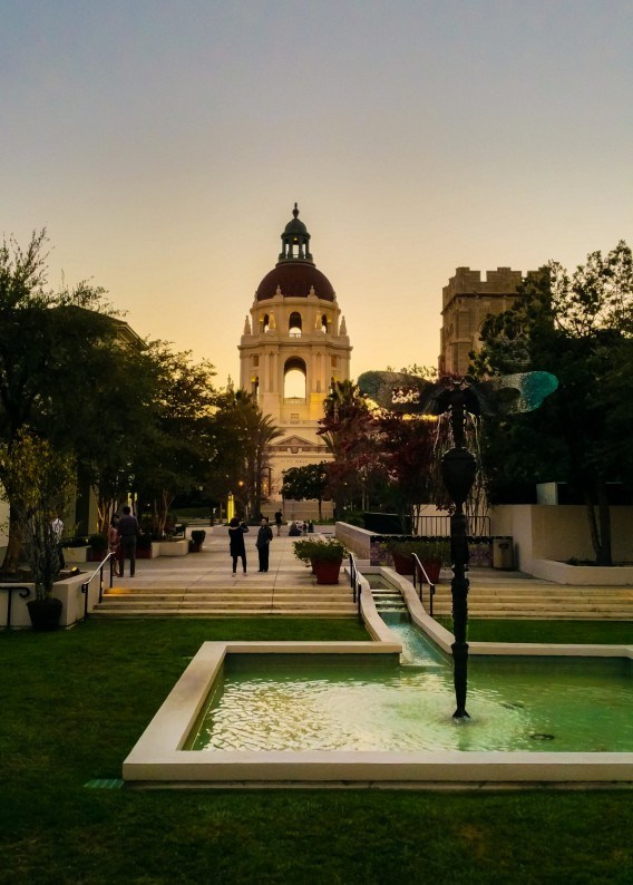 Pasadena City Hall from Alley (1 of 1)